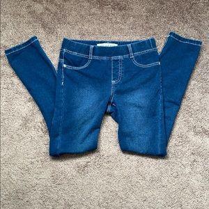 Girls blue denim leggings.